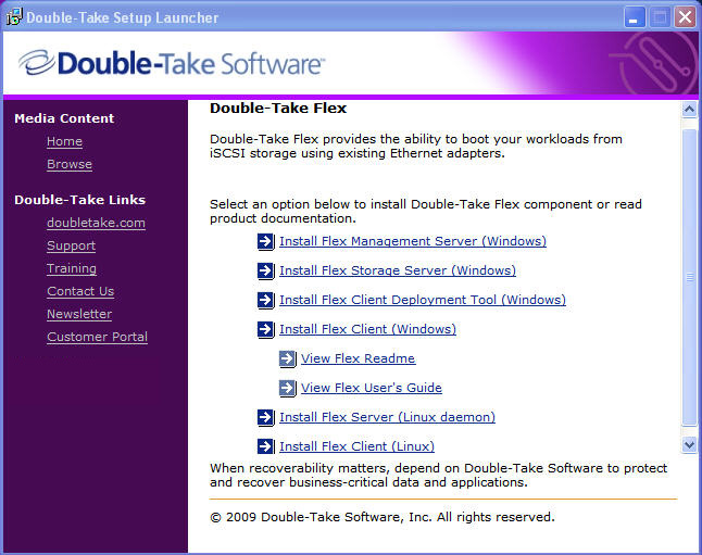 Installing the Double-Take Flex Windows Client
